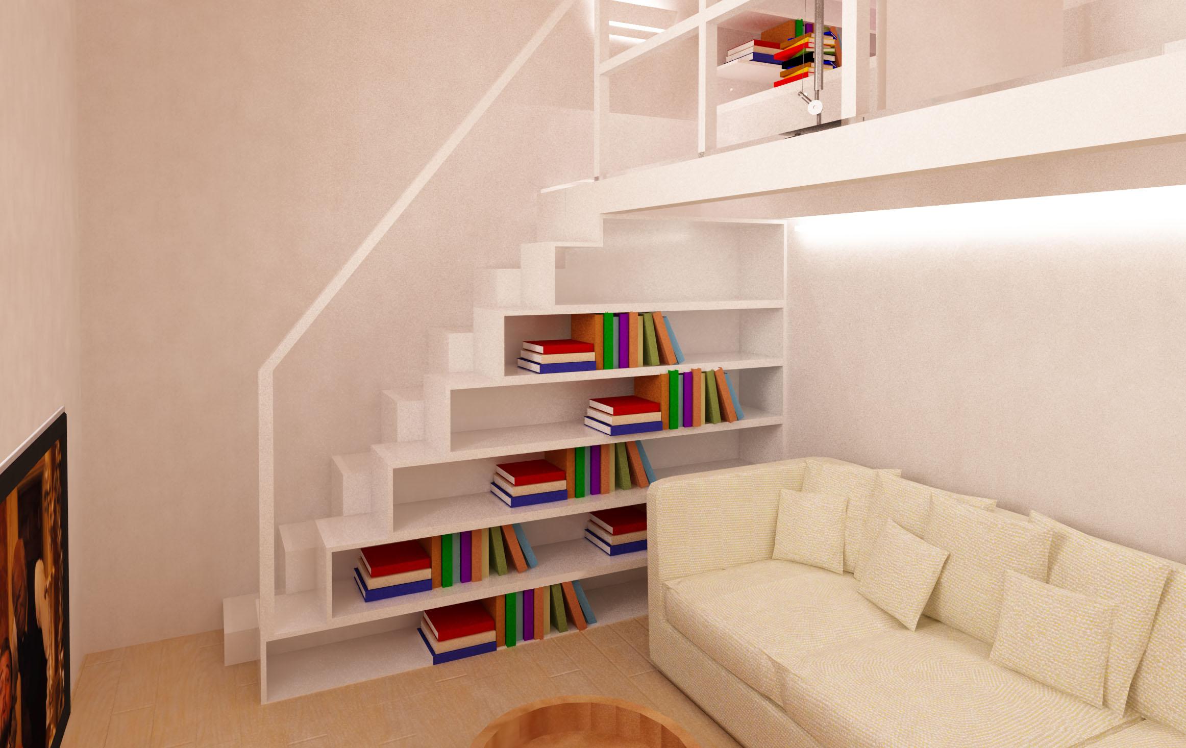 Una zona studio verticale mayday casa blog e progetti for Idee scale per soppalchi