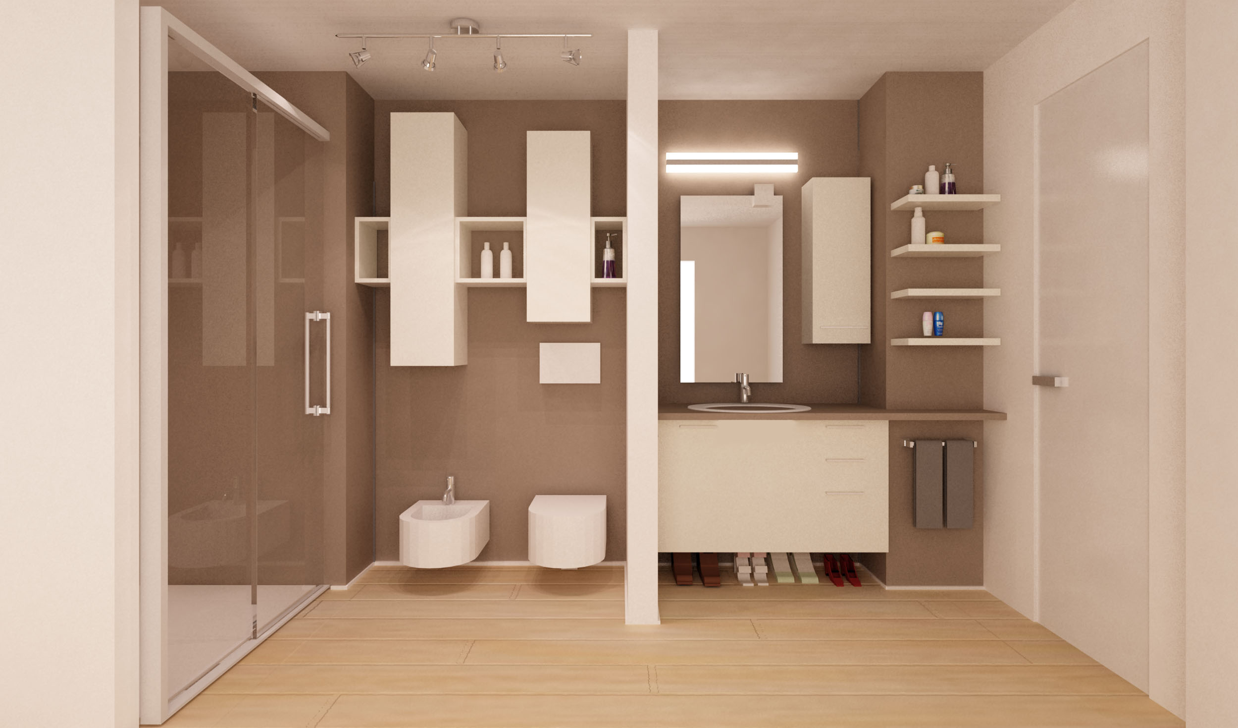 Una zona studio verticale mayday casa blog - Parquet in bagno e cucina ...