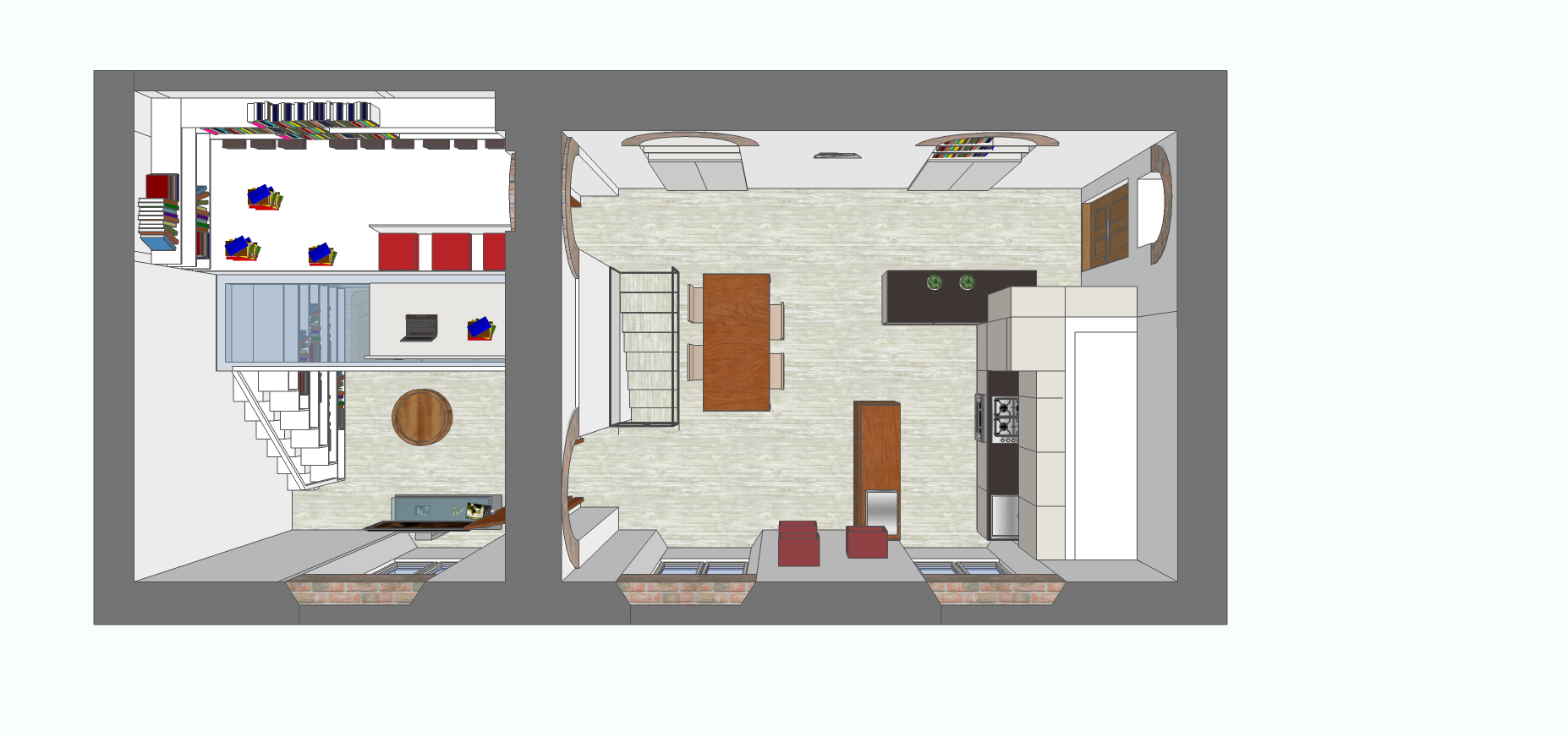 Una zona studio verticale mayday casa blog for Pianta esterna