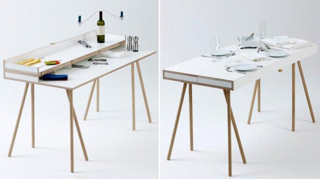una soluzione davvero innovativa per uno spazio casa/ufficio: doppeldecker table by bernotat &amp