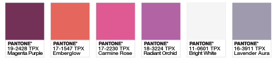 palette pantone 2014