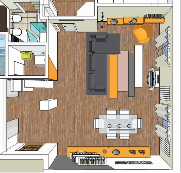 Arredare il living con asimmetria mayday casa blog for Pianta di una casa