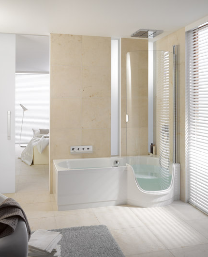 Vasca doccia by mayday casa blog e progetti for Doccia passante
