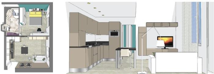 Taglia M: progetto di massima appartamento