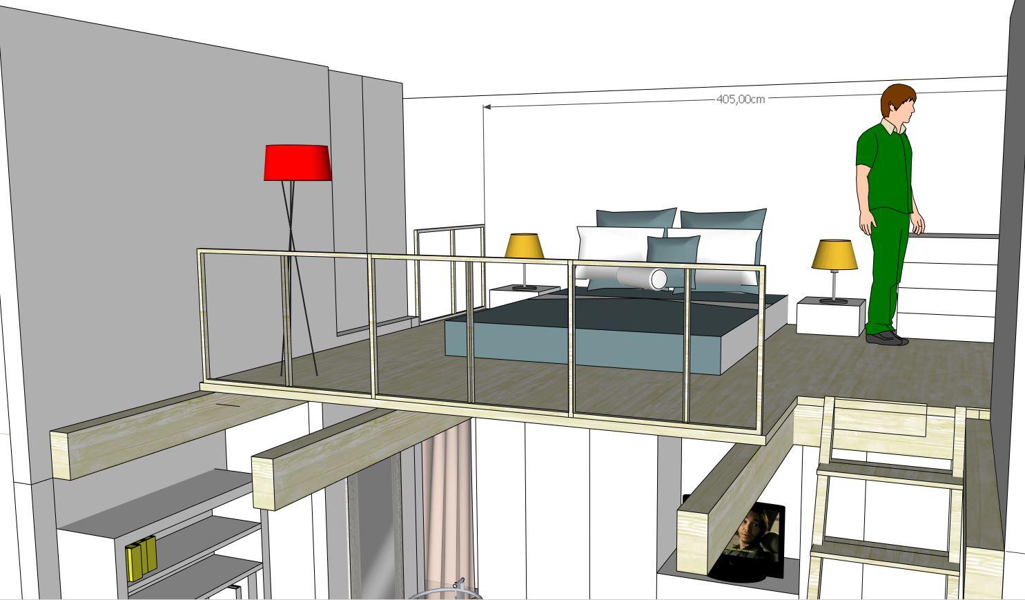 Progetto letto a soppalco ij97 regardsdefemmes - Soppalco camera da letto ...
