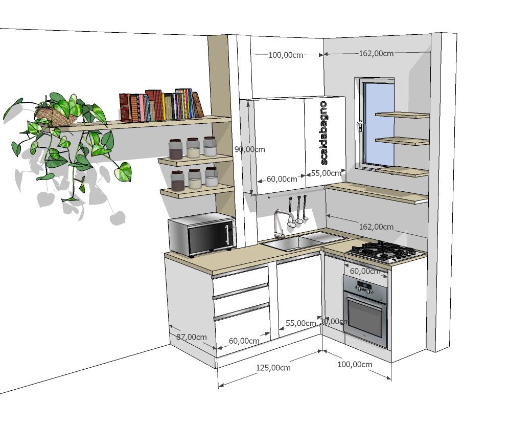 Proposta b la soluzione permette di conservare tutti i pensili ora presenti e di mantenere tutti - Ikea scaldabagno ...