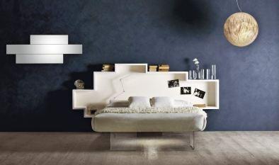 pittura materica e testata a parete by LAGO