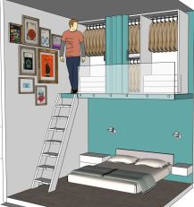 particolare stanza dove l'azzurro grigio arreda e rilassa