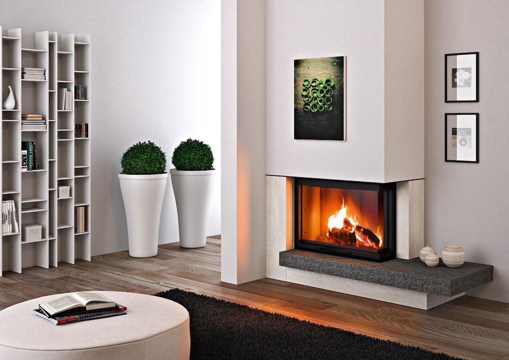camini-moderni-angolo-focolari-chiusi-legna | Mayday Casa Blog e ...