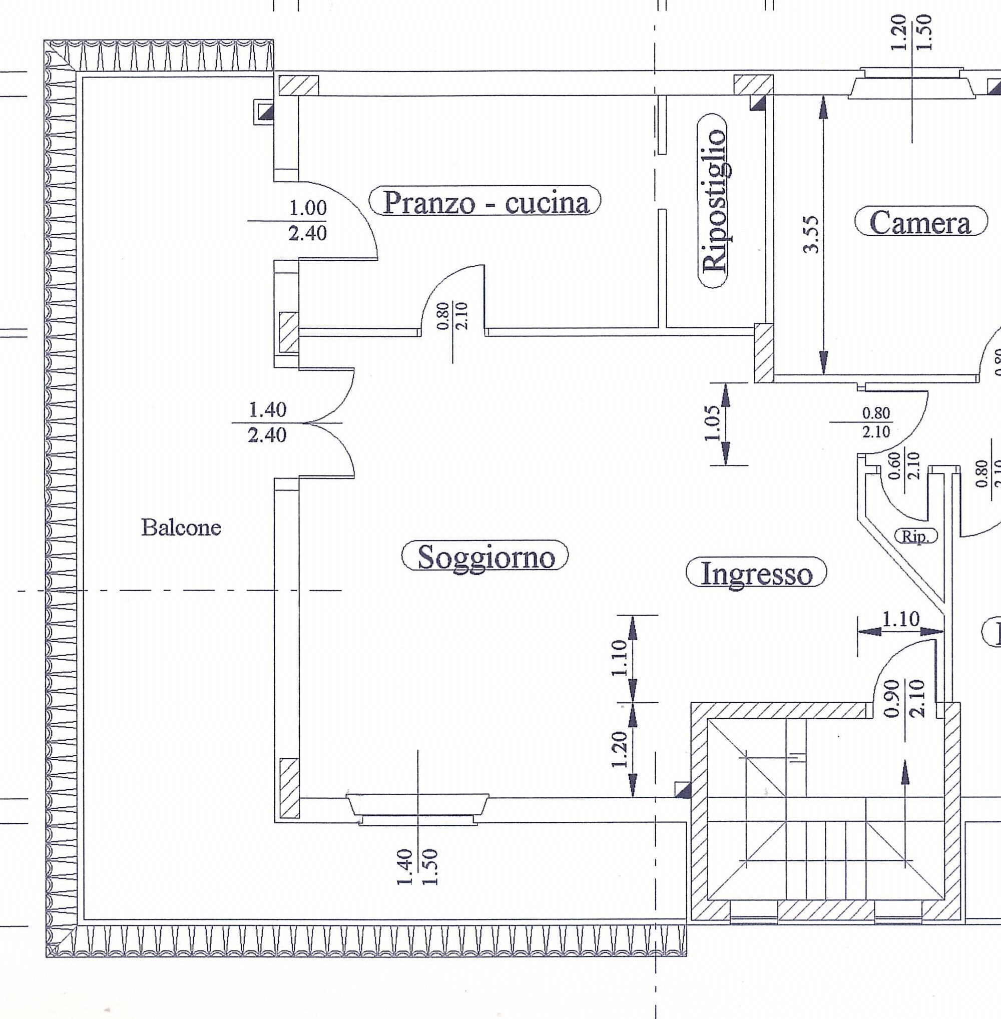Pianta living e cucina mayday casa blog e progetti - Pianta casa 90 mq ...