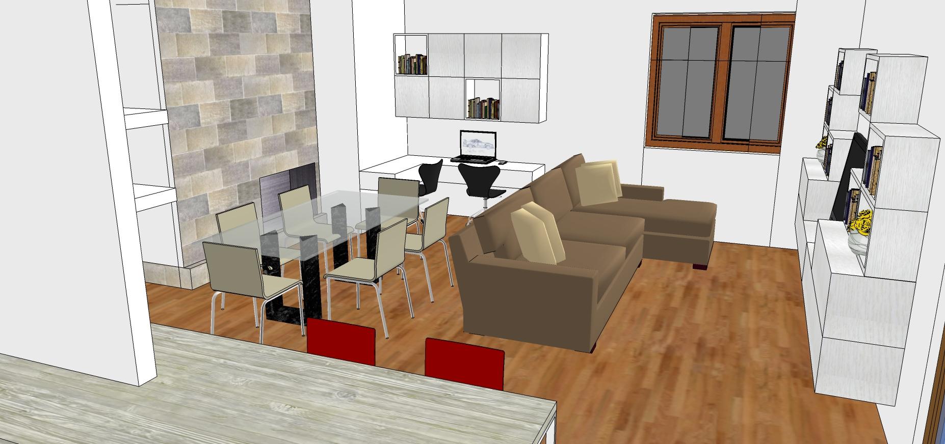 Good stunning progetto cucina e soggiorno insieme cucina for Progetti di cucina open space