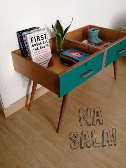 Bell'idea per un tavolo fai da te originale. Trovato su decorviva.com.br