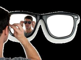 occhiali da sole...diventano specchio by thabto