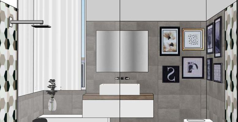 Progetto bagno i rivestimenti mayday casa blog e progetti - Progetto bagno paderno ...