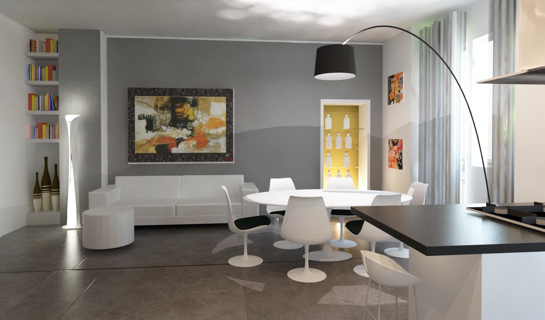 Ridefinire gli spazi progetto con particolare planimetria - Pitturare il soggiorno ...