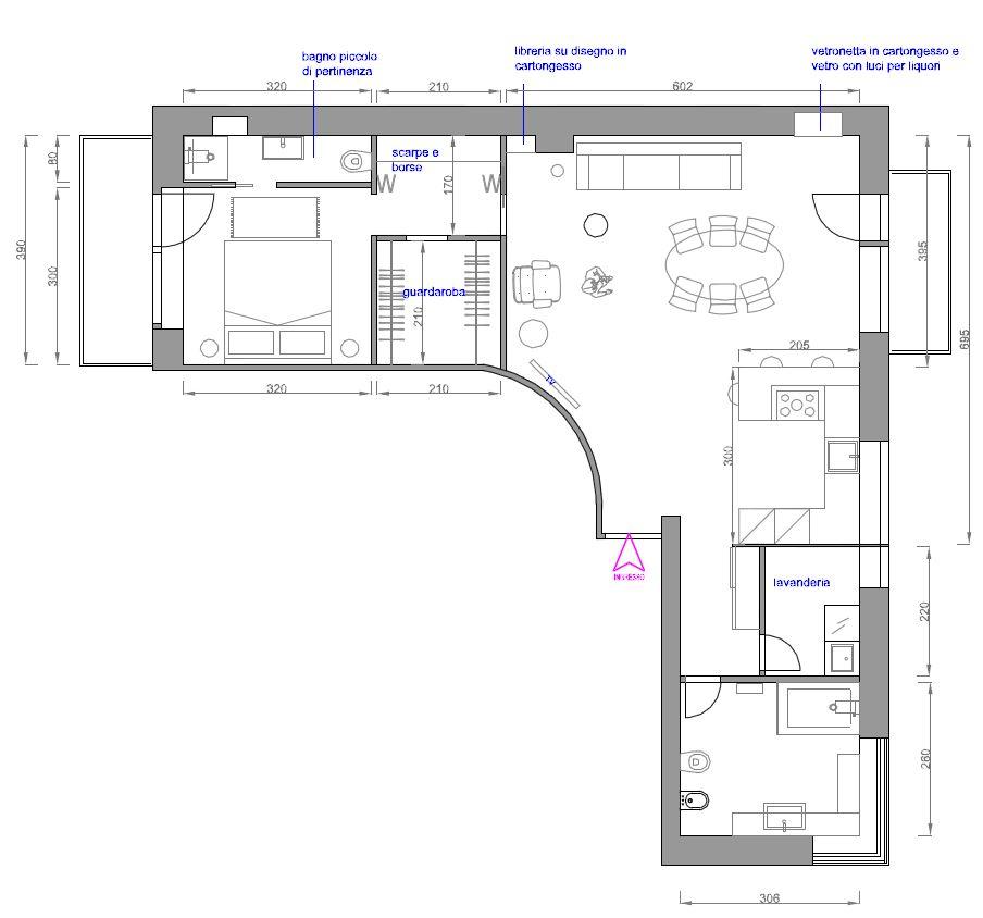 Ridefinire gli spazi progetto con particolare planimetria for Progetti di case moderne a un solo piano