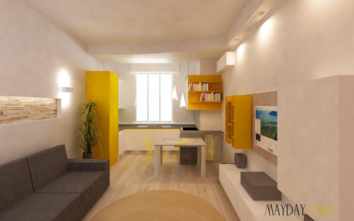 Due stanze e un living in 70 mq mayday casa blog e progetti for Progetti di arredamento