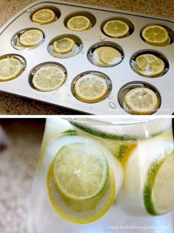 geniale idea per avere cubetti di ghiaccio con il limone!