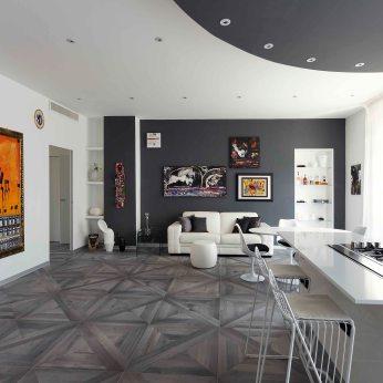 Pavimento materico di Refin Ceramiche modello Maison