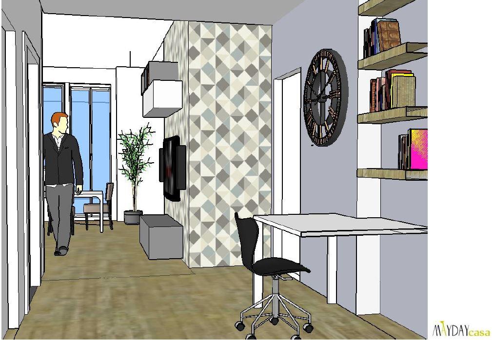 arredo-ingresso-soggiorno-grigio-avio-beige | Mayday Casa Blog e ...