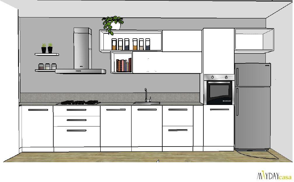 Progetto cucina a vista mayday casa blog e progetti - Progetto cucina soggiorno ...