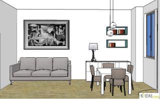 soggiorno-grigio-bianco-verde